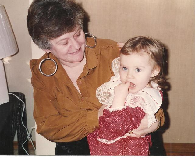 Grandma Benoist - holding Raisa on her 2nd Birthday.