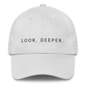 look deeper white