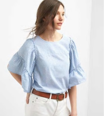 gap bell sleeve top