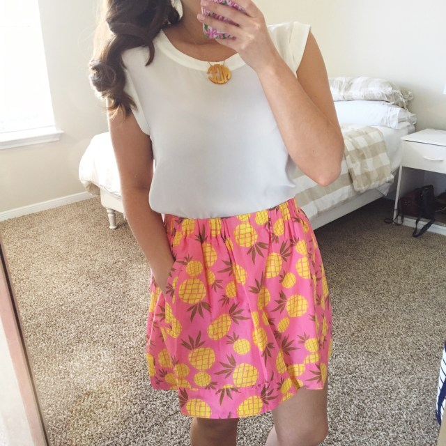 how to style a bold pineapple skirt