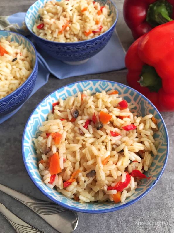 Rice with vegetables..Quick, easy and delicious rice recipe