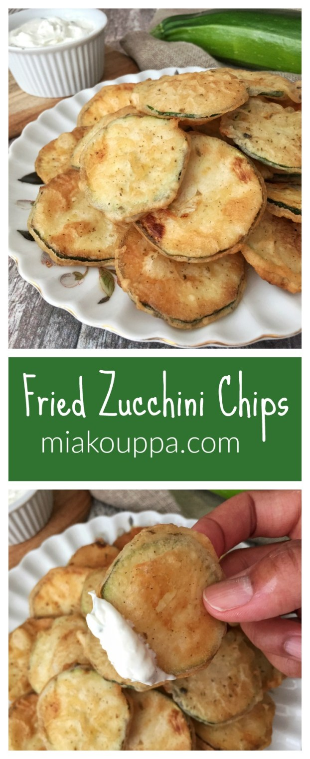 Greek Fried zucchini chips. A simple, and delicious recipe!