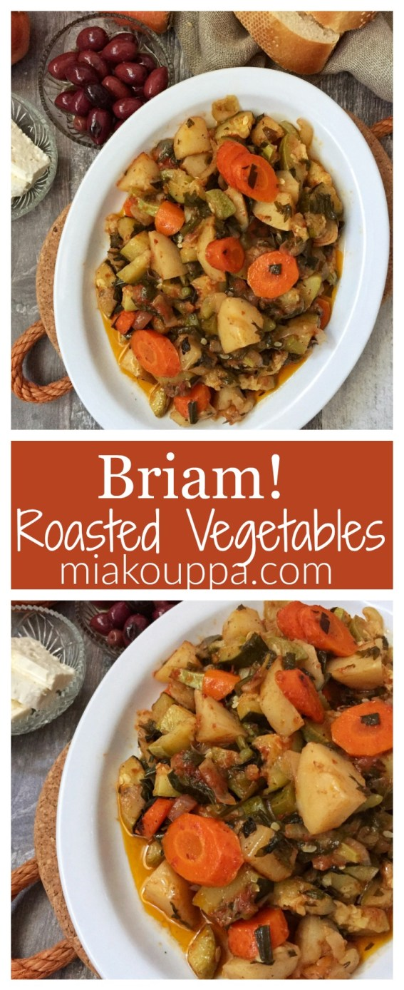 Briam! Greek roasted vegetables recipe