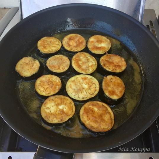 Fried eggplant bruschetta