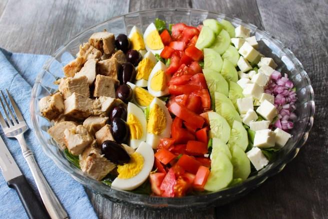 Greek-style Cobb salad