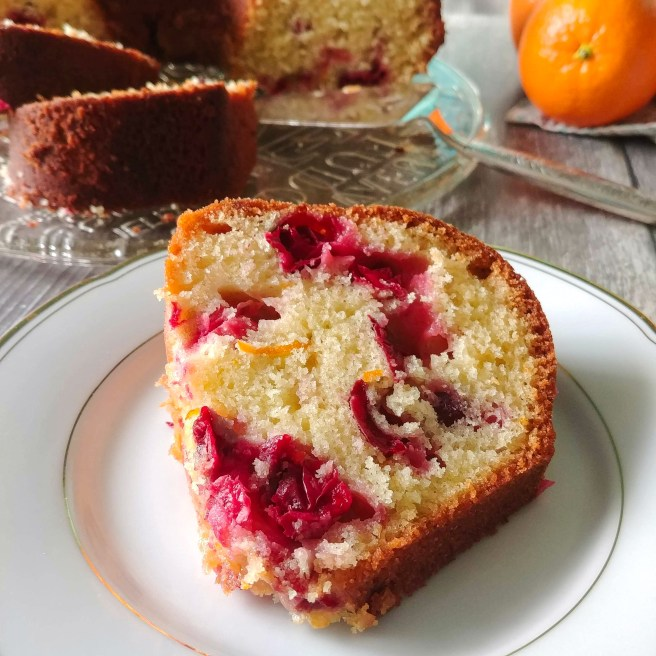 Orange and cranberry olive oil cake