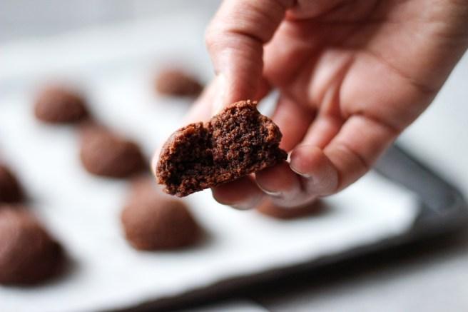 Vegan chocolate and strawberry cookies