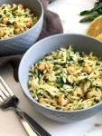 Herbed orzo with chickpeas