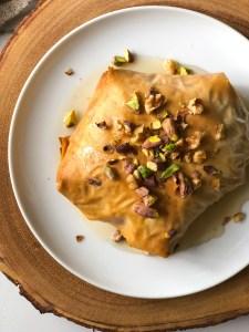 Baklava baked brie