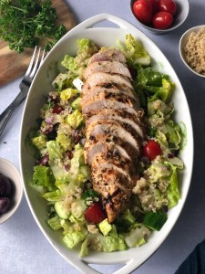 Greek chicken and quinoa salad