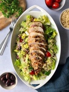 Greek chicken and quinoa salad