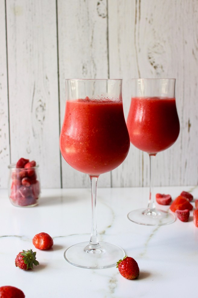 Strawberry and watermelon frozen ouzo cocktail