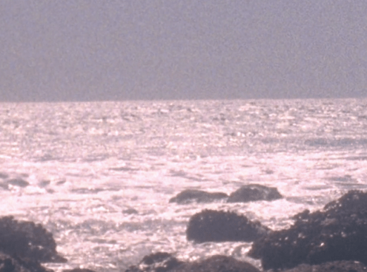 The graininess of the ocean shots is something I tried to recreate in my work.