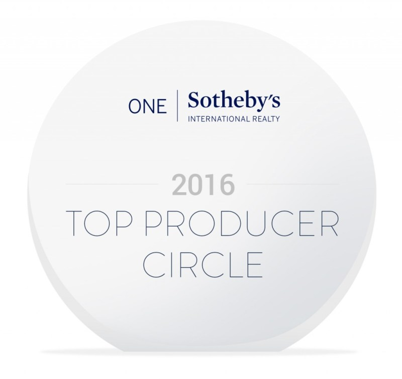 top producers_plaque 2016 by ONE Sothebys International Realty