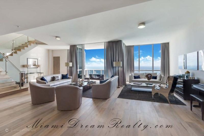 Trump Royale TS06 Living Room Sunny Isles Beach Miami