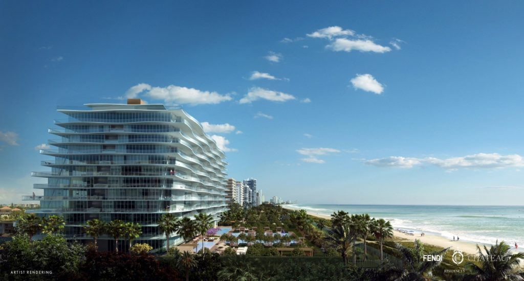 FENDI Chateau Surfside Miami Condos View to the North