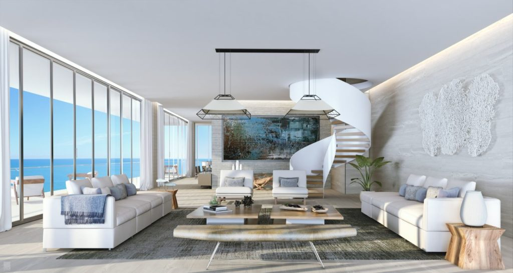 Auberge Fort lauderdale Penthouse Living Room