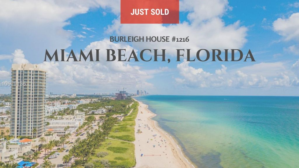 Just Sold by Ashton Coleman | 7135 Collins Avenue #1216 Miami Beach, Florida