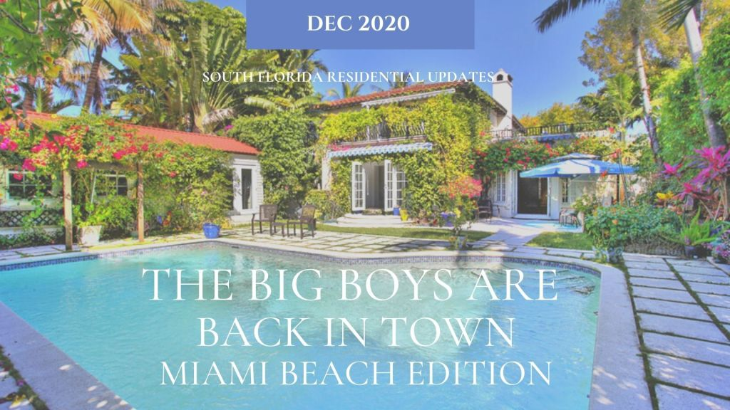 Miami Beach Homes - Trends above $1M