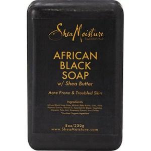 Shea Moisture African Black Soap Bar With Shea Butter - 8 oz