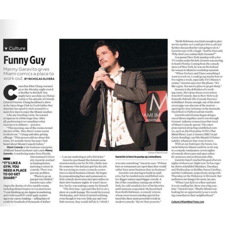 Miami Comedy Miami New Times
