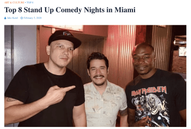 Miami Comedy Calle 8 News