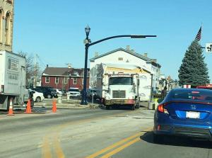 Wait, Really? An Oversized Load Got Stuck In Troy's Square?