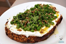 DIRT - Spring Summer - Goat Cheese and English Pea Toast