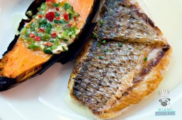 Mignonette Uptown - Striped Bass and Roasted Sweet Potatoes