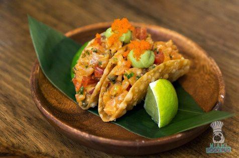 Pubbelly Sushi - Brickell - Salmon Tartare Taquitos