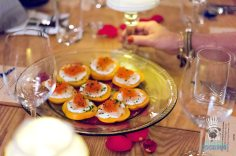 Uri Buri Cafe Roval Dinner - Royal Red Shrimp and Persimmon Canape