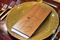 MasterCard Priceless Table - Michael Schwartz - Wood Menu