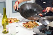 Wok Star - Add Sauce to Tilapia and Veg