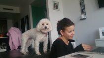 Virginia Gil and Lola