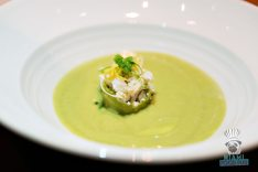 Bourbon Steak CORSAIR kitchen and bar - Miami Spice - Chilled Cucumber and Avocado Soup 3