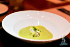 Bourbon Steak CORSAIR kitchen and bar - Miami Spice - Chilled Cucumber and Avocado Soup