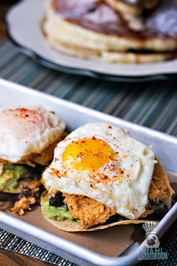 Lolo's Surf Cantina - Breakfast - Mazunte Style Spicy Chicken Tostadas