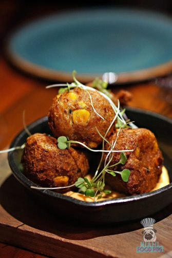 The Social Club - Crab and Corn Fritter