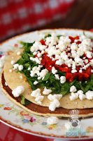 Cream Parlor - Savory Piquillo Peppers, Goat Cheese, Spinach, and Honey Pancakes 2