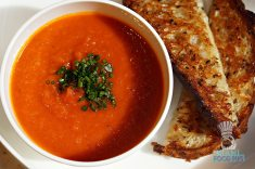 Three - Brunch - Grilled Cheese and Tomato Soup