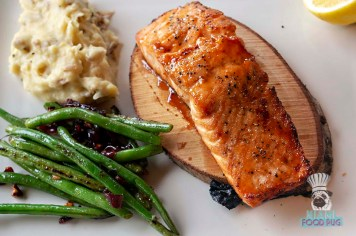 Devon Seafood and Steak - Maple Plank Roasted Salmon