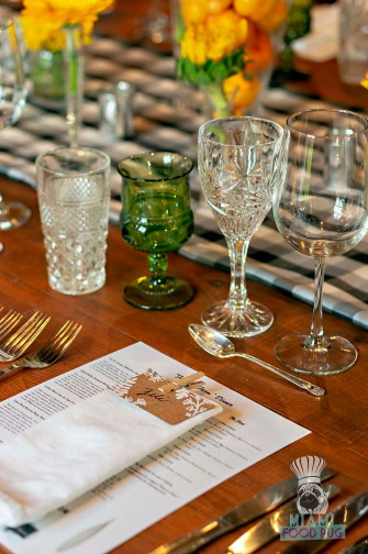 Estancia Culinaria x Heirloom Hospitality Group Farm to Farm Dinner - Table Setting