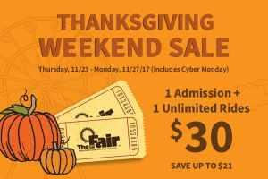 Youth Fair Thanksgiving deal
