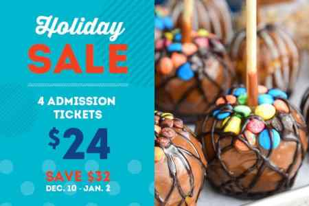 Youth Fair Holiday sale: 4 admissions for $24