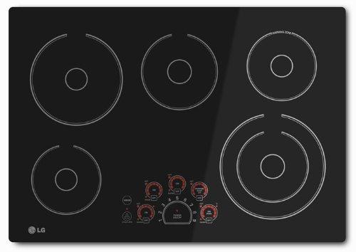 LG LCE3010SB 30Black Eléctrio Smoothtop Cooktop