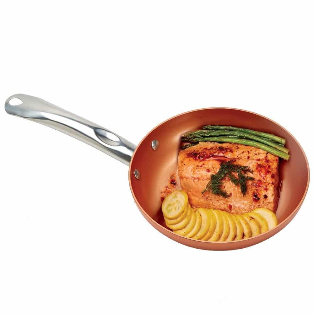 Jogo Frigideira Quadrada Copper Chef Square Fry Pan