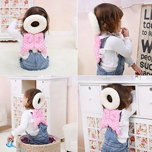 Almofada de segurança infantil ajustável para bebês Protetor de cabeça e ombro KuYou 5