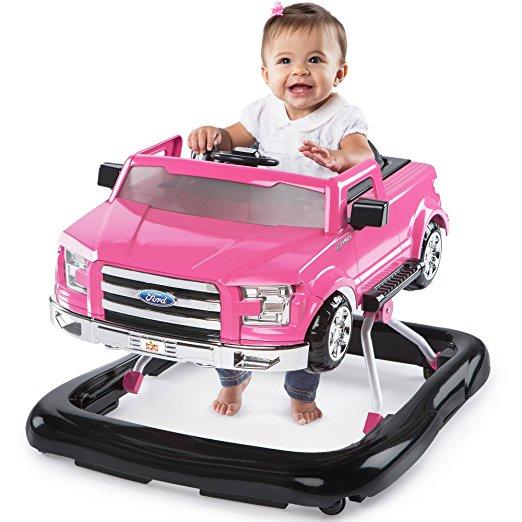 Andador 3 em 1 Ford-150 Bright Starts 3 Ways to Play Adjustable Portable Rosa3