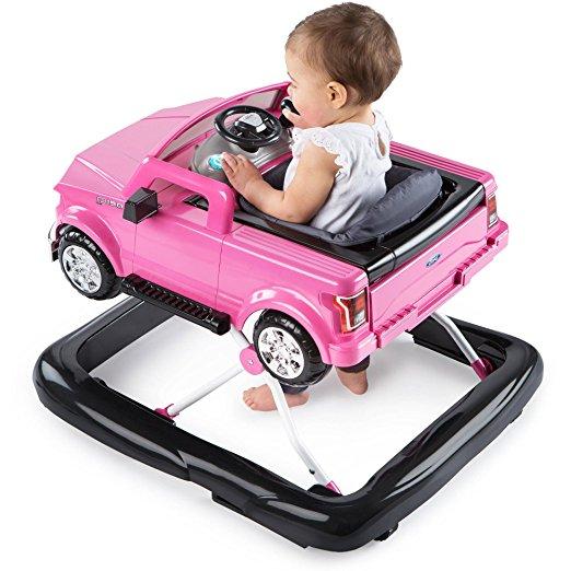 Andador 3 em 1 Ford-150 Bright Starts 3 Ways to Play Adjustable Portable Rosa7