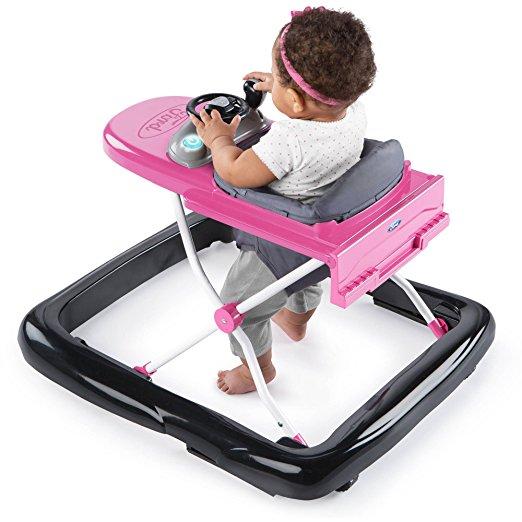 Andador 3 em 1 Ford-150 Bright Starts 3 Ways to Play Adjustable Portable Rosa8